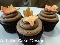 *New 2016: Fall Leaf Cupcakes