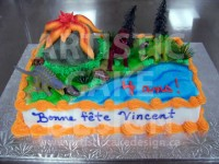 Dinosaur Magic Cake