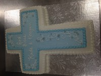 Blue and White Scroll Cross