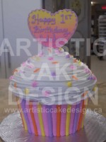 Bright Strips Giant Cupcake