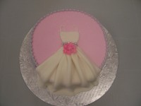 Fondant wedding dress