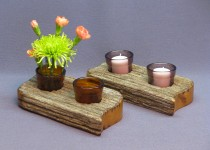 Chestnut-Votive Candle Holders