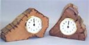 Chestnut Center Cut Clock