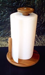 Chestnut Paper Towel Holder