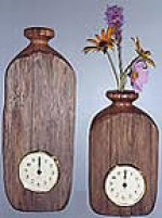 Chestnut Wall Vase Clock