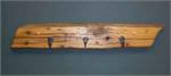 Chestnut Coat Rack with Metal Hooks