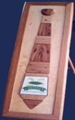 American Chestnut Wood Tie In Frame (No Inlay)