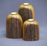 3-Piece Chestnut Candle Holder Set