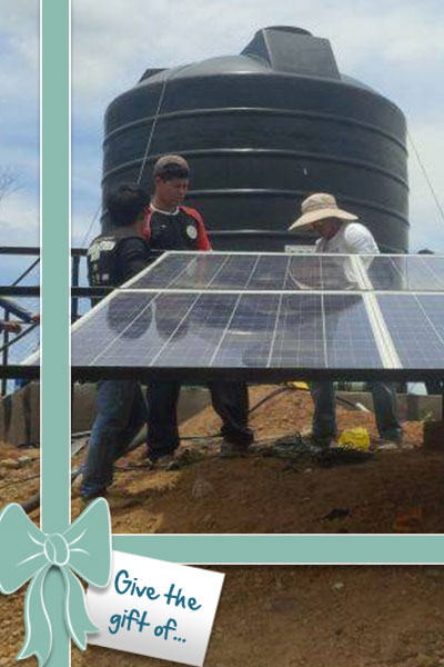 Give a Solar Panel for a Water System