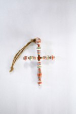 Paper Bead Cross Ornament
