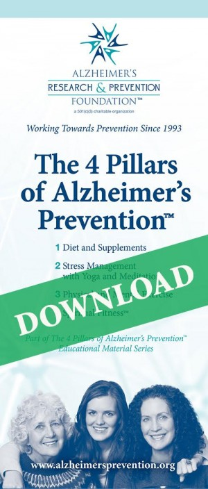 DOWNLOAD IT NOW - Brochure: The 4 Pillars of Alzheimer's Prevention