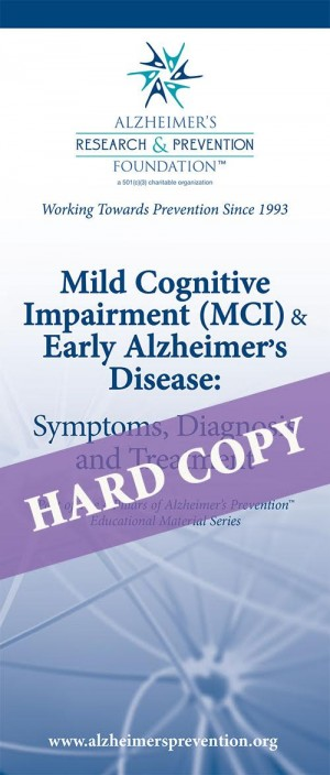 HARD COPY Brochure: Mild Cognitive Impairment (MCI) and Early Alzheimer's Disease