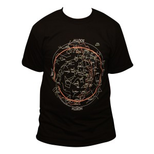 Glow-in-the-dark, Polychrome Star Chart T-shirt
