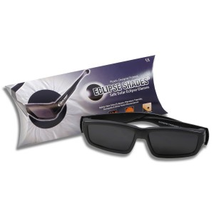 Plastic Eclipse Glasses with protective case