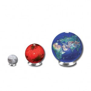 Earth, Mars and Moon Marble Set