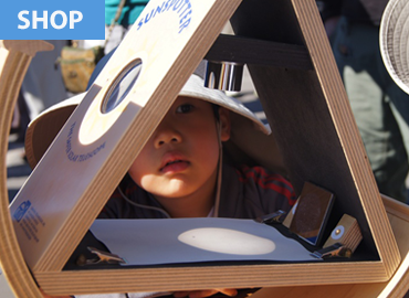 Child looking at solarscope