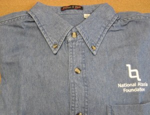 NAF Long Sleeve Denim Shirt w/Logo -(Clearance-Limited to Stock Available and All Sales are Final)