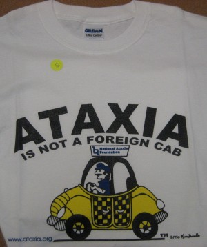 NAF Ataxia is Not a Foreign Cab T-Shirt  ($10) Long Sleeve ($15)
