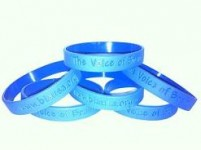 10 Blue Silicone Wristbands