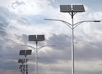 Row of solar lights