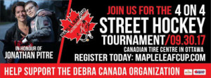 MAPLE LEAF CUP 4 on 4 Street Hockey Tournament - Donation in Lieu of Participating