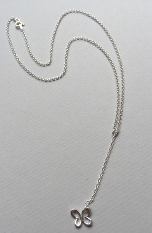 Sterling Silver (Y-Design)  Butterfly Necklace