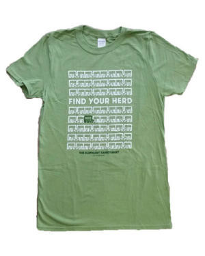 Find Your Herd T-shirt  in Safari Green