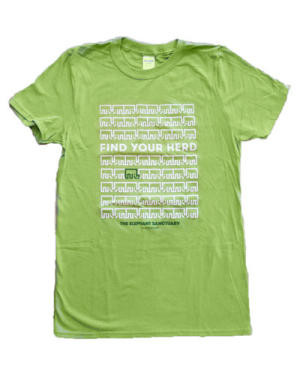 Find Your Herd T-Shirt | Kiwi Green