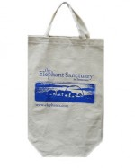 Elephant Sanctuary Tote/Blue Logo