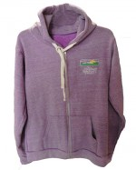 Triblend Fleece Zip Hoodie ~Purple