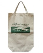 Elephant Sanctuary Tote/Green Logo