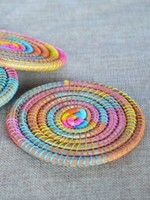 Multicolor Pine Needle Coasters