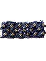 Thick Macrame Cuff- Navy and Sage