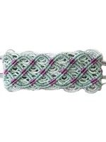 Thick Macrame Cuff- Turquoise and Purple