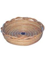 Large Round Basket - Twisted Blue