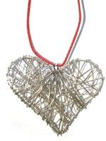 Wrapped Heart Necklace-Alpaca Wire