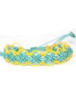 Colorful Macrame Bracelet-Turquoise and Yellow