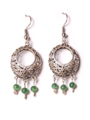 Bubble Earring- Green   Beads