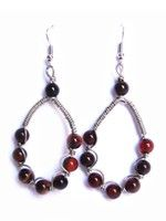 Wrapped Drop Earring-Fire Agate