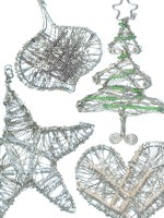 Set of Wire Wrapped Ornaments