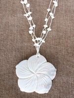 White Mother of Pearl Pendant Necklace