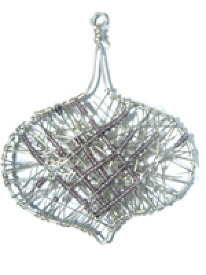 Sphere Shaped Ornament-Wire Wrapped