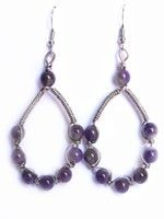 Wrapped Drop Earring-Amethyst