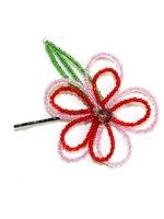 Flower Hair Pin-Red and Pink