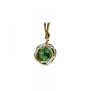 Bird's Nest Necklace - Aventurine