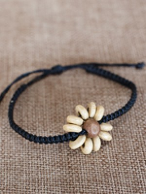 Sunflower Macrame Bracelet- Adjustable
