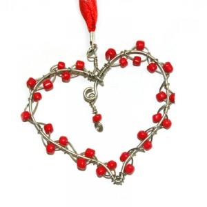 Share Your Heart Ornament - Red
