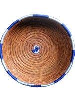 Large Round Basket-Lt. and Dk. Blue