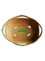 Medium  Rectangle  Basket- Kelly Green String