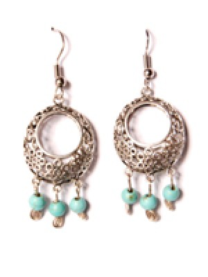 Bubble Earring-Turquoise Beads